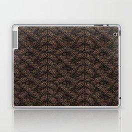 Brown Haka Cable Knit Laptop & iPad Skin