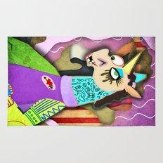 Collage Unicorn Rug