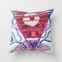 friday Throw Pillows featuring Friday by Andon Georgiev