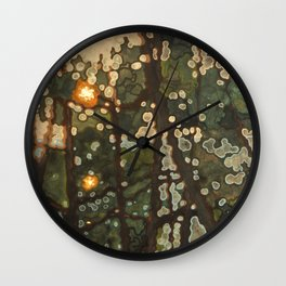 Two Suns in the Sunset Wall Clock