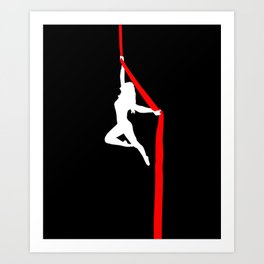 Aerialist Silks Spilt Sugar Art Print