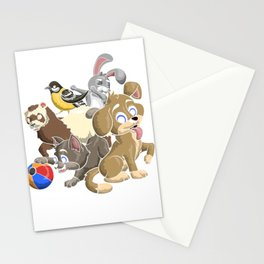 Pets Animals Stationery Cards