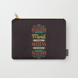 Lab No. 4 Success Is Joyce Brothers Life Inspirational Quote Carry-All Pouch