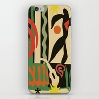matisse iPhone & iPod Skins featuring Inspired to Matisse (vintage) by Chicca Besso