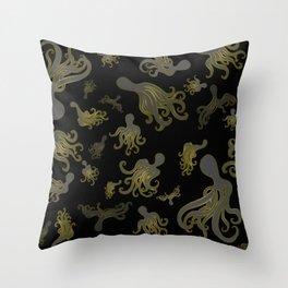 Baby Octopi Throw Pillow