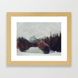 Down at the River Framed Art Print