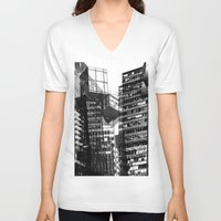 urban V-neck T-shirts featuring Urban by Marian - Claudiu Bortan