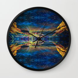 Concert at Red Rocks Painting  Wall Clock