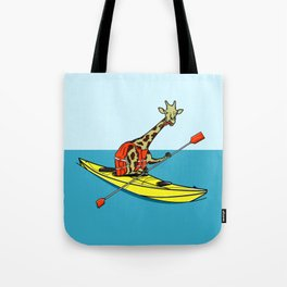 Giraffe Sea Kayaking Tote Bag