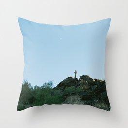 Arizona Desert Moon Throw Pillow