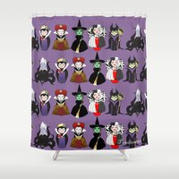evil Shower Curtains featuring Evil kokeshis by Pendientera