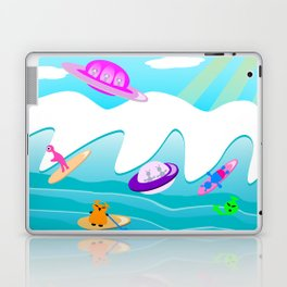 Aliens Go Surfing Laptop & iPad Skin