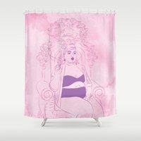 queen Shower Curtains featuring Queen by Inbeeswax