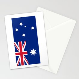 Australian flag, HQ image Stationery Cards