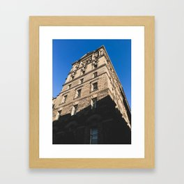 Edinburgh Old Town Building - Architectural Photography Framed Art Print