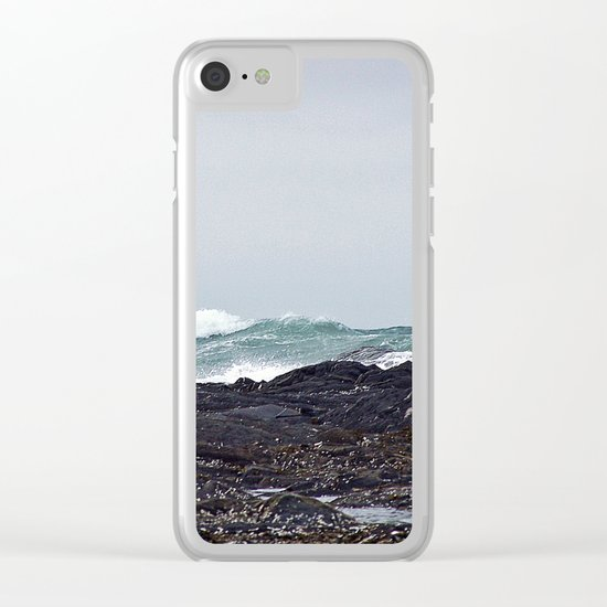 Late Winter Surf Clear iPhone Case