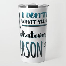 Jefferson Started It | Hamilton Travel Mug