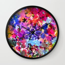 Jelly Bean Wildflowers Wall Clock