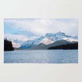 Snow Covered Mountain Photography Print Rug
