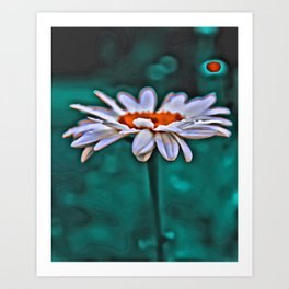 Painted Daisey Art Print