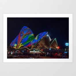 Vivid Sydney at Opera House Art Print