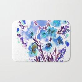 Bouquet Blue Bath Mat