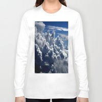 clouds Long Sleeve T-shirts featuring clouds by  Agostino Lo Coco