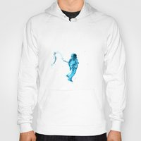 astronaut Hoodies featuring Astronaut by Augusto Melo