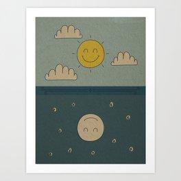 Good Day, Good Night Art Print