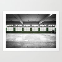 Art Print featuring Empty room by GautCheezzz