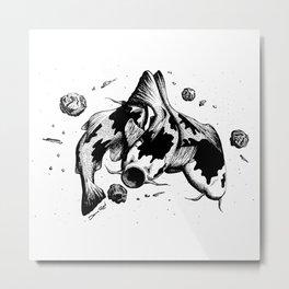 Koi Fish Space Eater Metal Print
