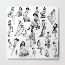 Pin Up Girls Metal Print