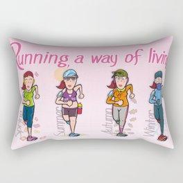 Running girl Rectangular Pillow