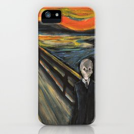 The Silence - When The Doctor Meets Munch iPhone Case