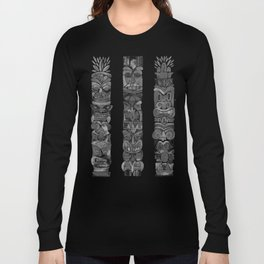 Tiki Totems – Black Long Sleeve T-shirt