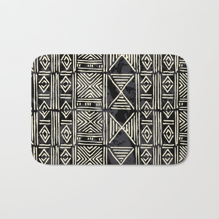 Tribal mud cloth pattern Bath Mat