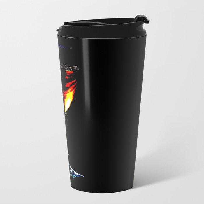 WINE AT NIGHT Metal Travel Mug