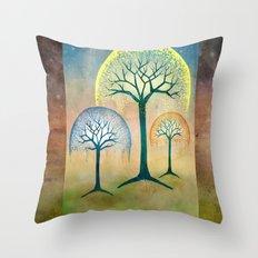 Waterfall Willows Throw Pillow