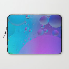 Abstract defocused background picture made with oil, water and soap Laptop Sleeve