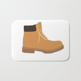 Timberland Boots Timbs Illustration Bath Mat