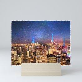 Night Shine - New York Mini Art Print
