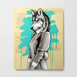 Teen Wolf Girl Metal Print