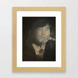 Charcoal Singer Framed Art Print