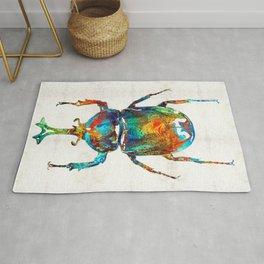 Colorful Beetle Art - Scarab Beauty - By Sharon Cummings Rug