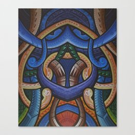 Poly Tribal Canvas Print