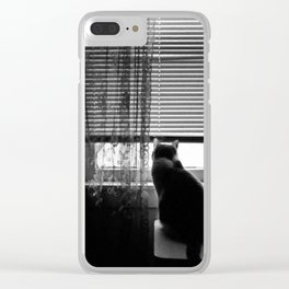 Window cat Clear iPhone Case