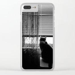 Window cat Clear iPhone Case