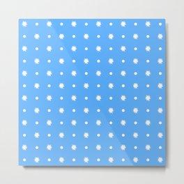 stars 102- blue Metal Print