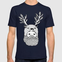 Portrait of Northern Deer Man T-shirt