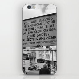 Checkpoint Charlie Berlin iPhone Skin